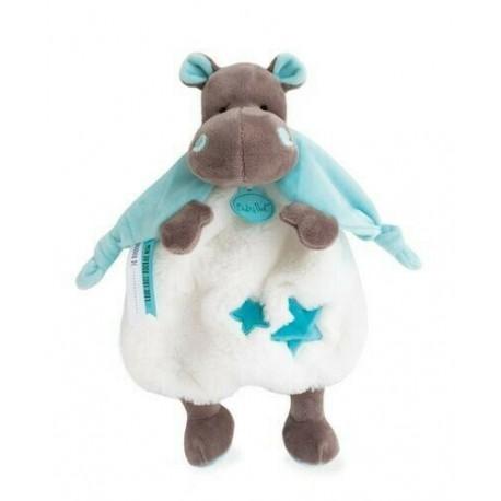 doudou baby nat hippopotame bleu