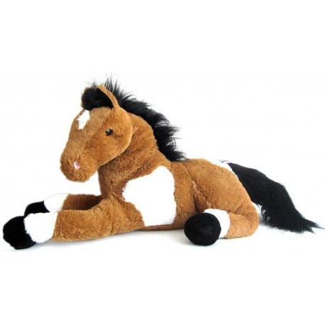 peluche cheval geant marron