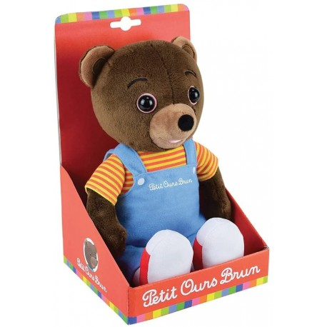 peluche petit ours brun musical