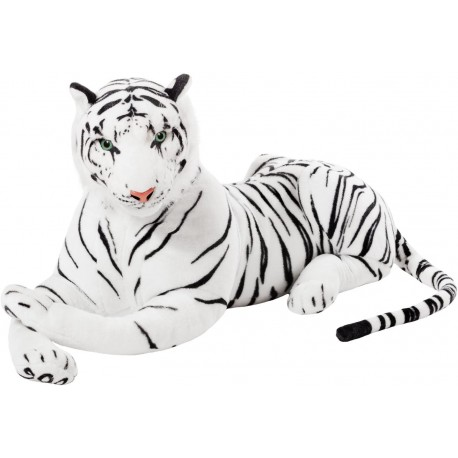 peluche tigre blanc géant 1 mètre