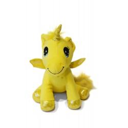peluche licorne jaune